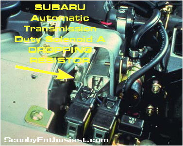 Subaru Automatic Transmission Solenoid A Dropping Resistor