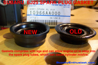 SUBARU spark plug tube gasket seals