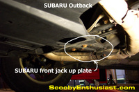 Jack up plate removal 2000 Outback