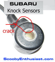 What is the SUBARU knock sensor and what does it do?