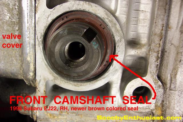 Cam Seal Leak : Subaru ej front camshaft oil seal leak