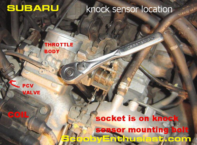 subaru forester knock sensor location