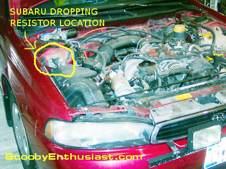 Subaru line pressure dropping resistor location